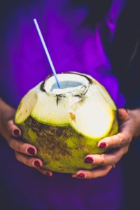 coconut water what to eat while running